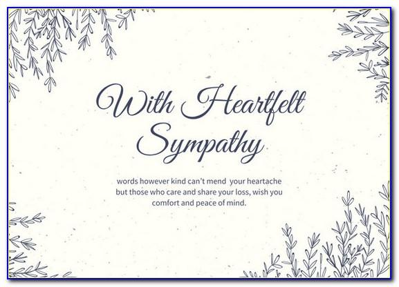 Condolence Card Templates