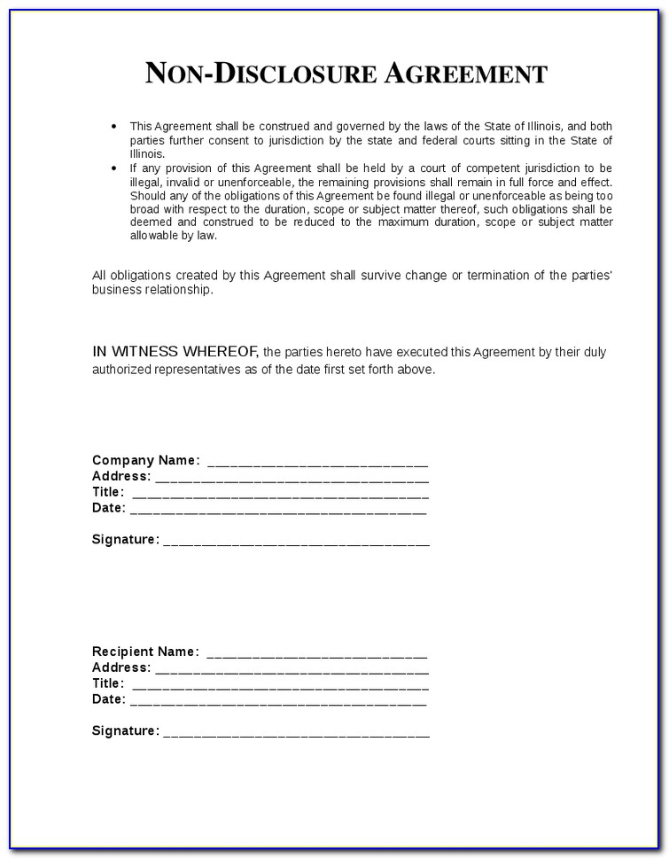Confidentiality Agreement Template Free Australia