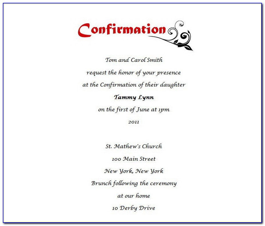 Confirmation Invitation Designs