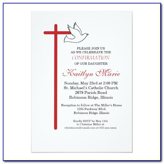 Confirmation Invitation Samples