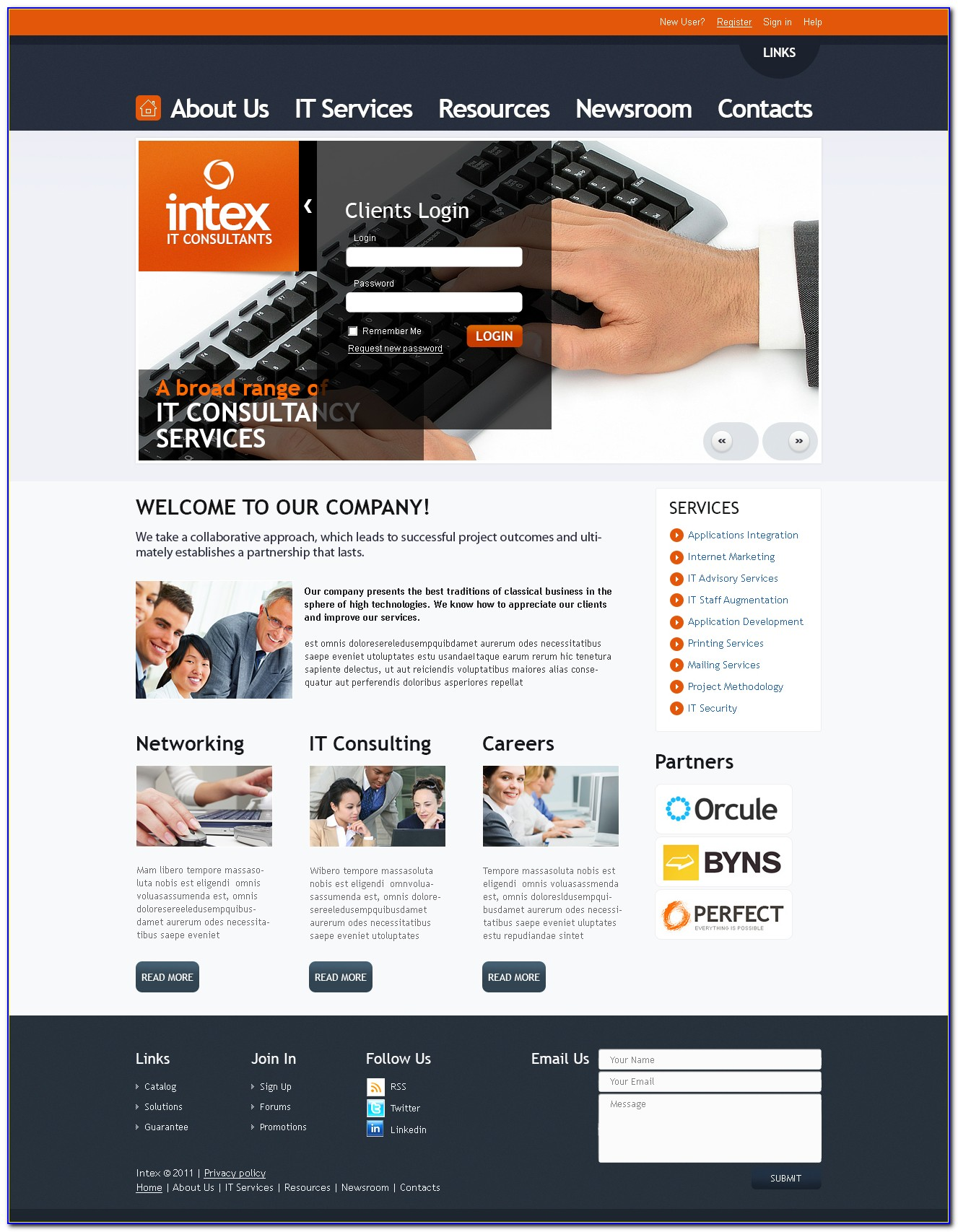 Consulting Website Templates Free Download