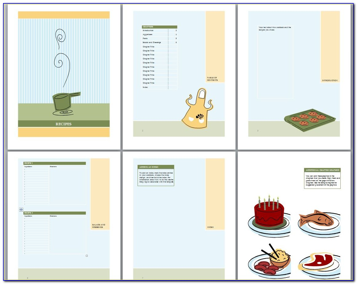 Cookbook Recipe Template For Word