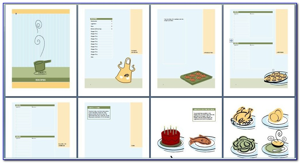 Cookbook Template For Word Free