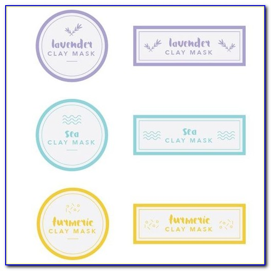 Clay Mask Label Templates Free Pdf Inside Cosmetic Label Templates Free Online