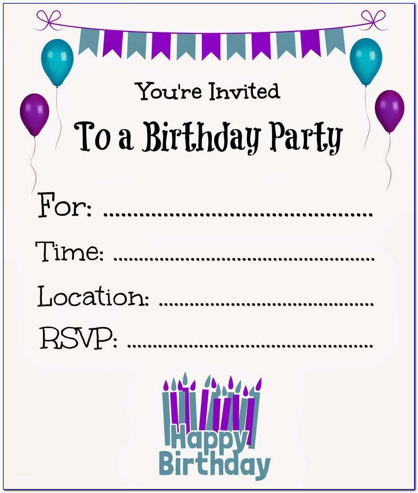 Create A Party Invite Free