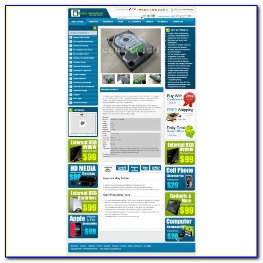 Ebay Listing Template Custom Designed
