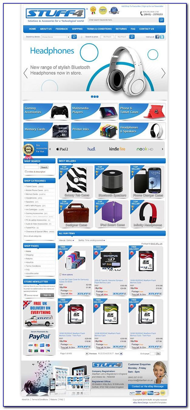 Custom Ebay Store Template Free