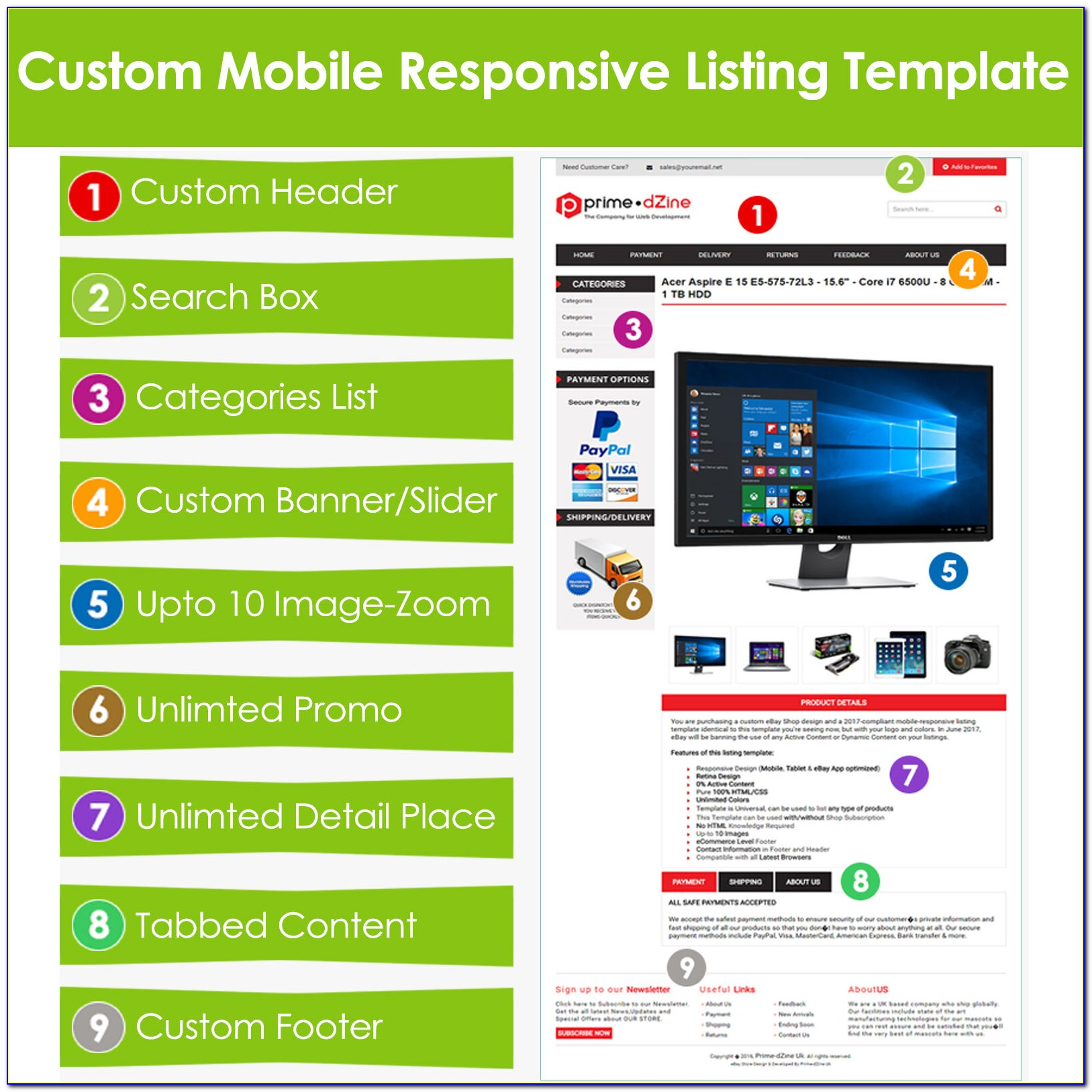 Custom Ebay Template Design