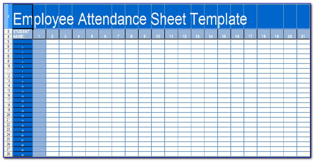 Daily Attendance Sheet Template Word