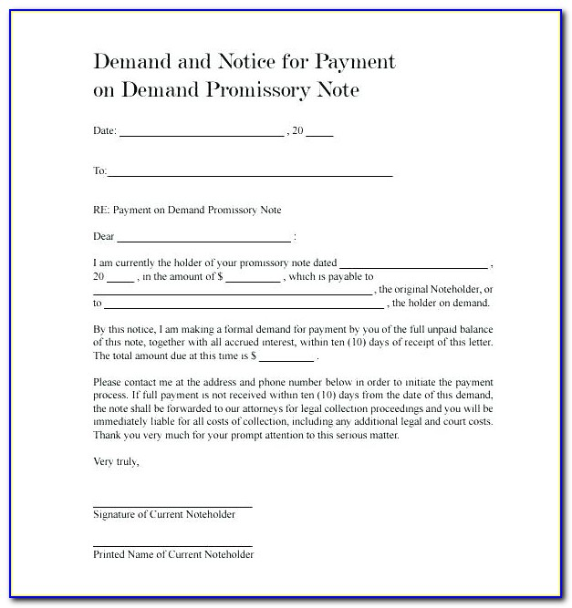 Demand Promissory Note Format India