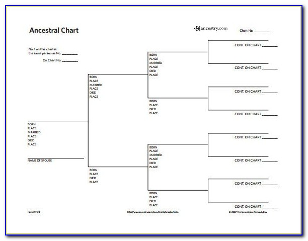 Descendant Family Tree Chart Template