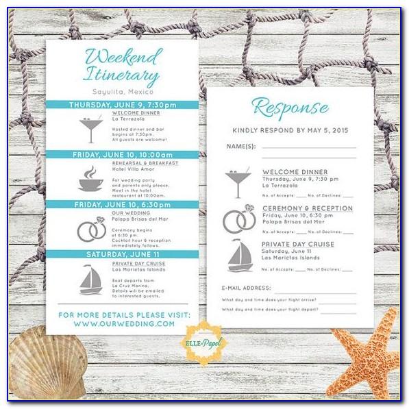 Destination Wedding Itinerary Template Free