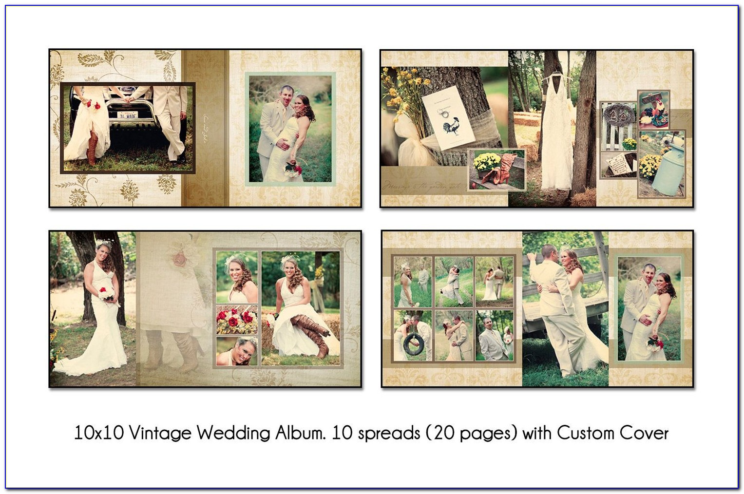Digital Album Wedding Photoshop Psd Templates Free Download