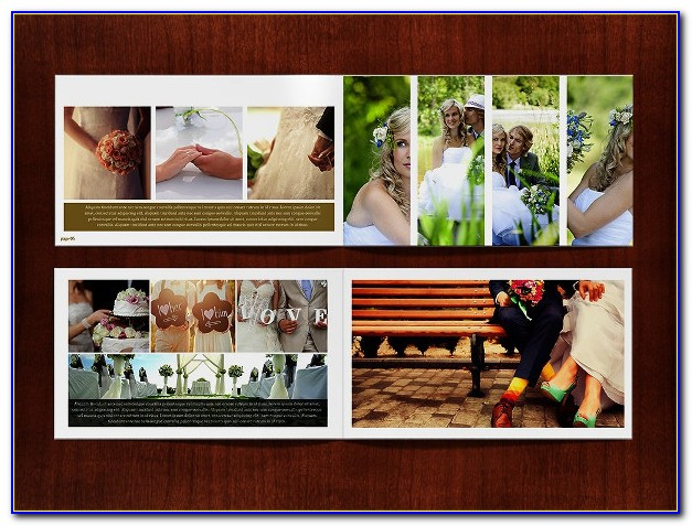 Digital Album Wedding Photoshop Psd Templates