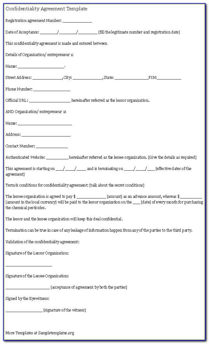 Diy Binding Financial Agreement Template