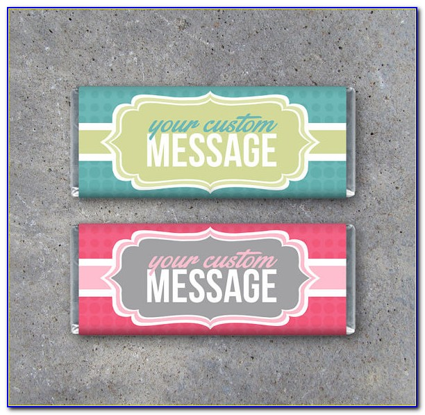 Diy Candy Bar Wrappers Template