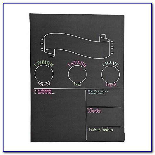 Diy First Birthday Chalkboard Poster Template