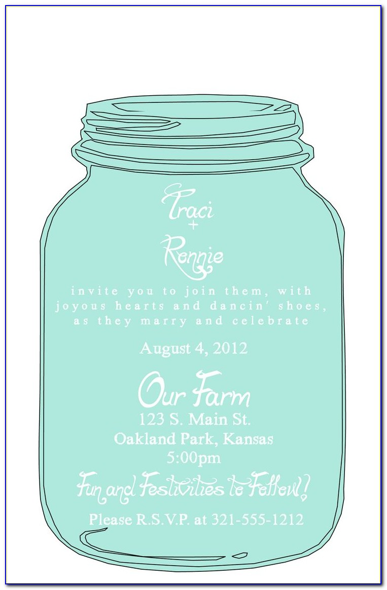 Diy Mason Jar Wedding Invitations