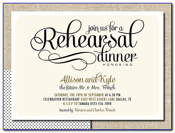 Diy Rehearsal Dinner Invitations
