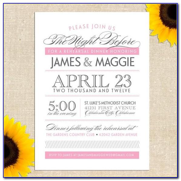Diy Wedding Rehearsal Dinner Invitations