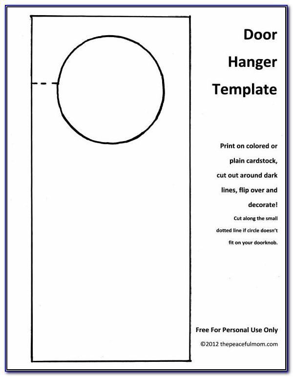 Do Not Disturb Door Hanger Template Free