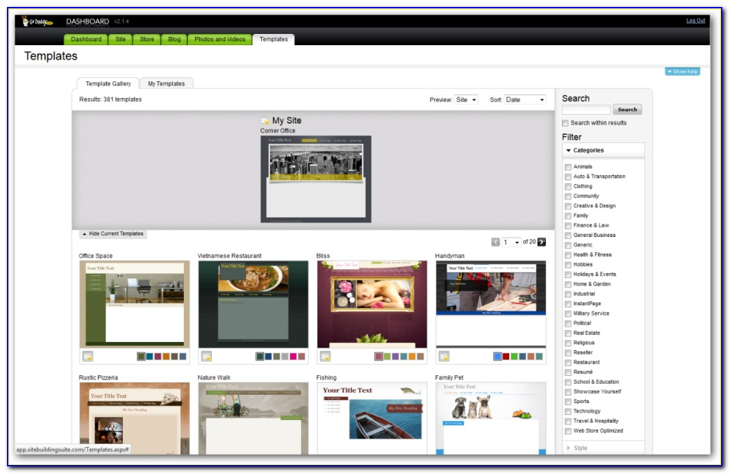 Does Godaddy Have Website Templates