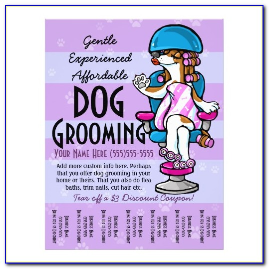 Dog Grooming Flyer Templates Free