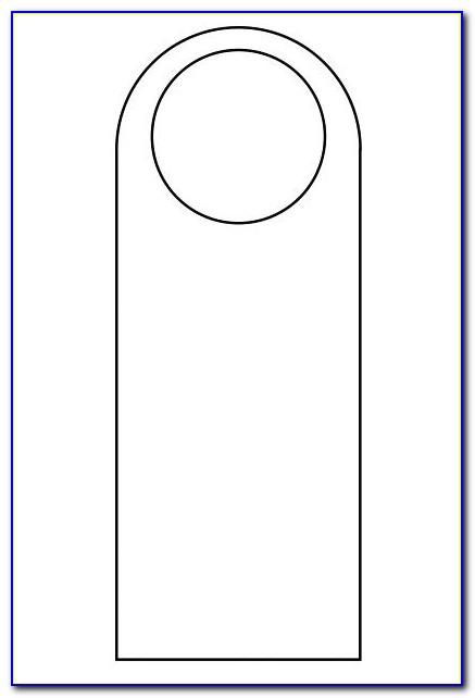 Door Hanger Template Size