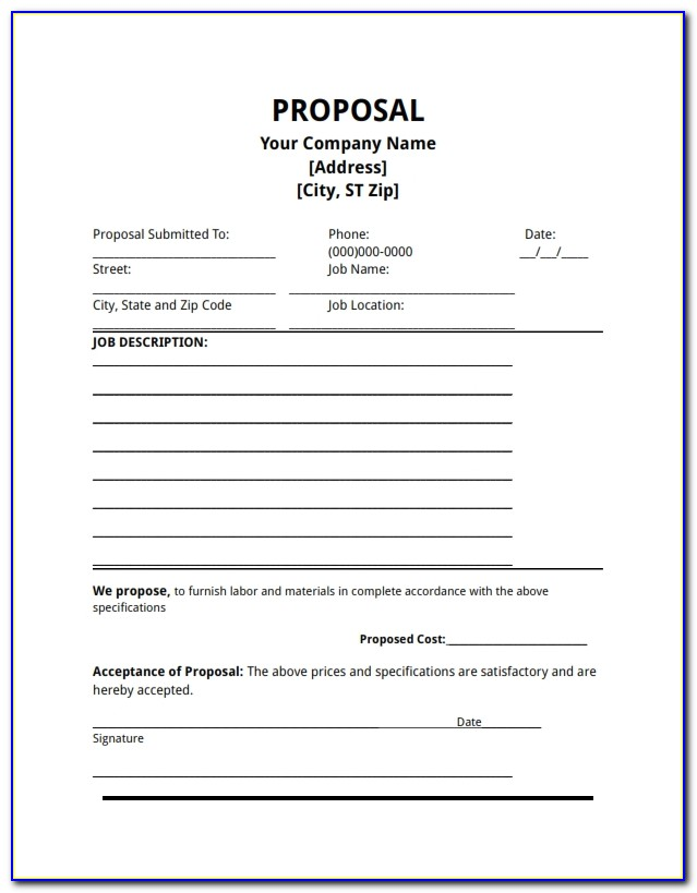 Download Free Business Proposal Template Word