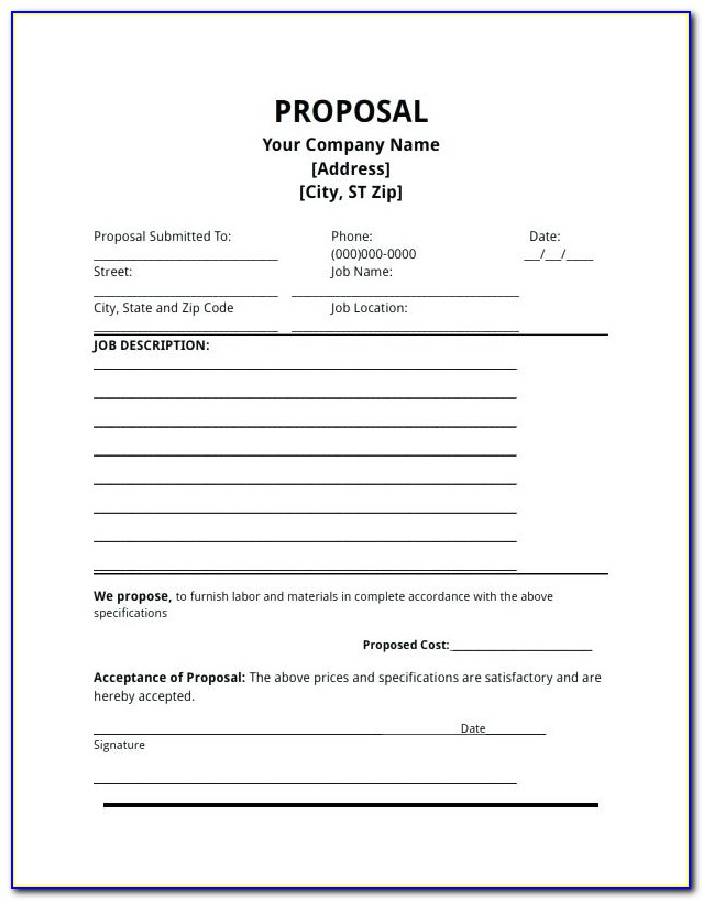 Drywall Bid Proposal Template