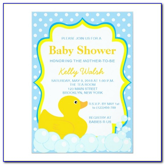 Duck Baby Shower Invitation Templates