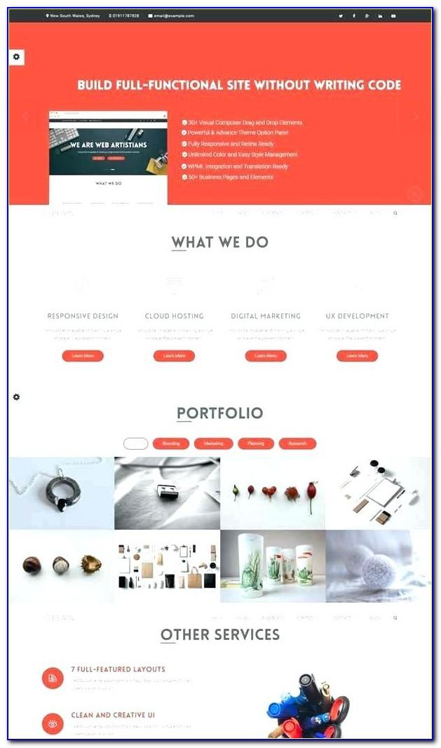 E Marketing Website Templates