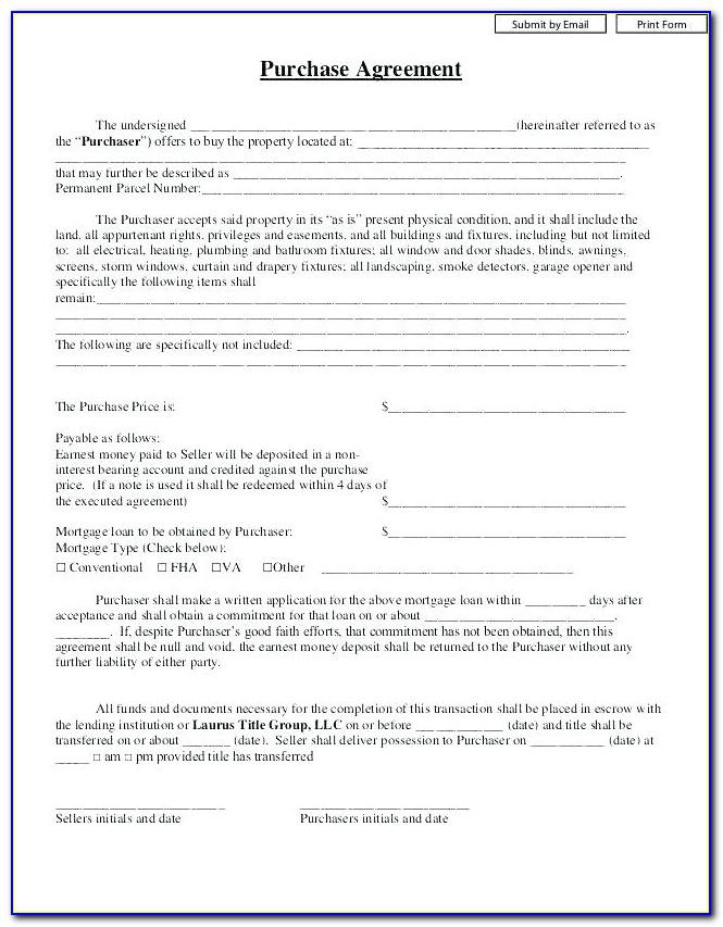 Earnest Money Contract Form Texas