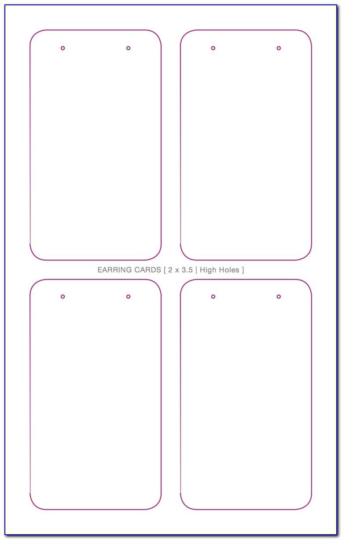 Earring Display Card Template Free