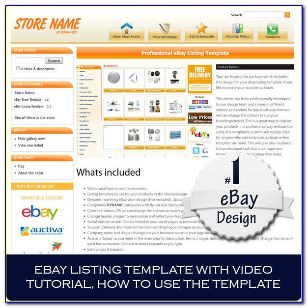Ebay Listing Template Free Html