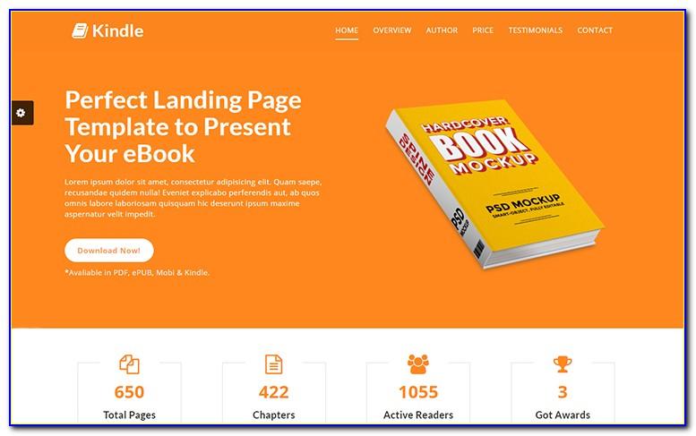 Ebook Landing Page Wordpress Template