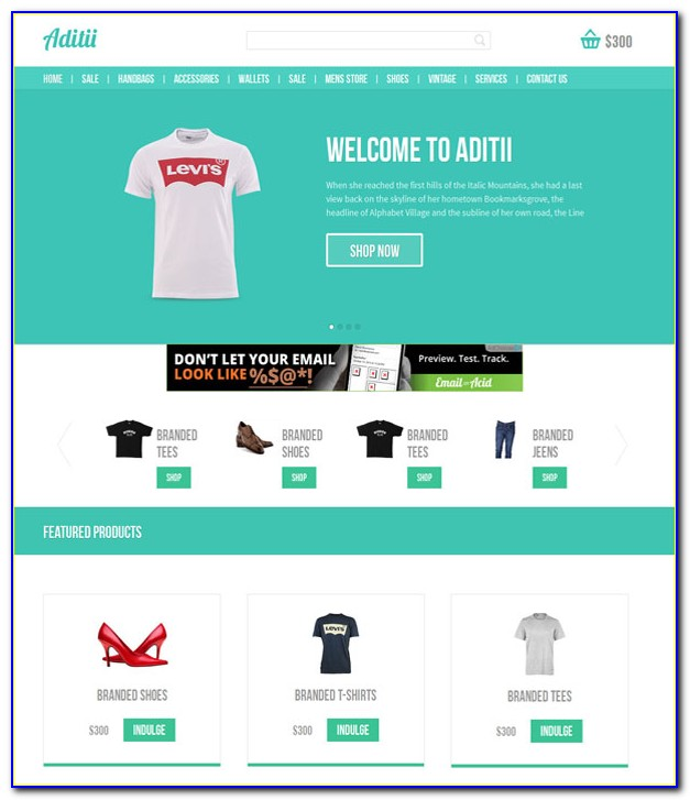 Ecommerce Free Websites Templates