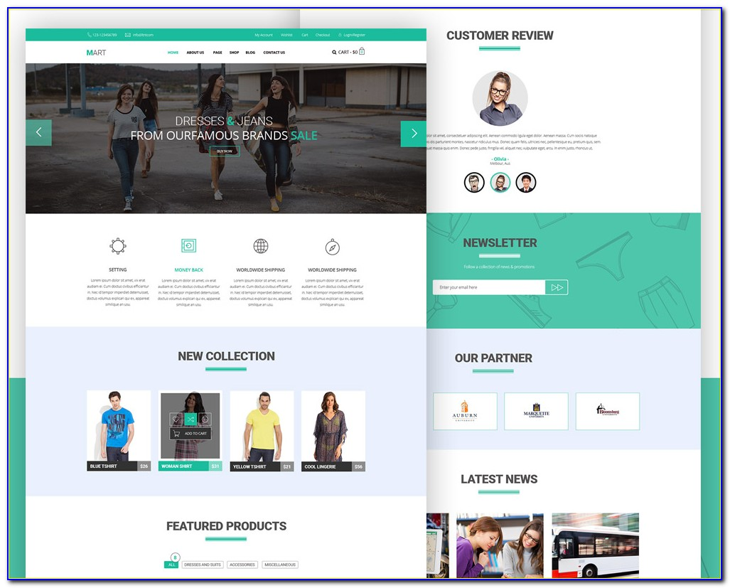 Ecommerce Websites Templates Free