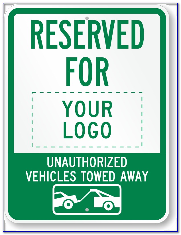 Editable Reserved Parking Sign Template