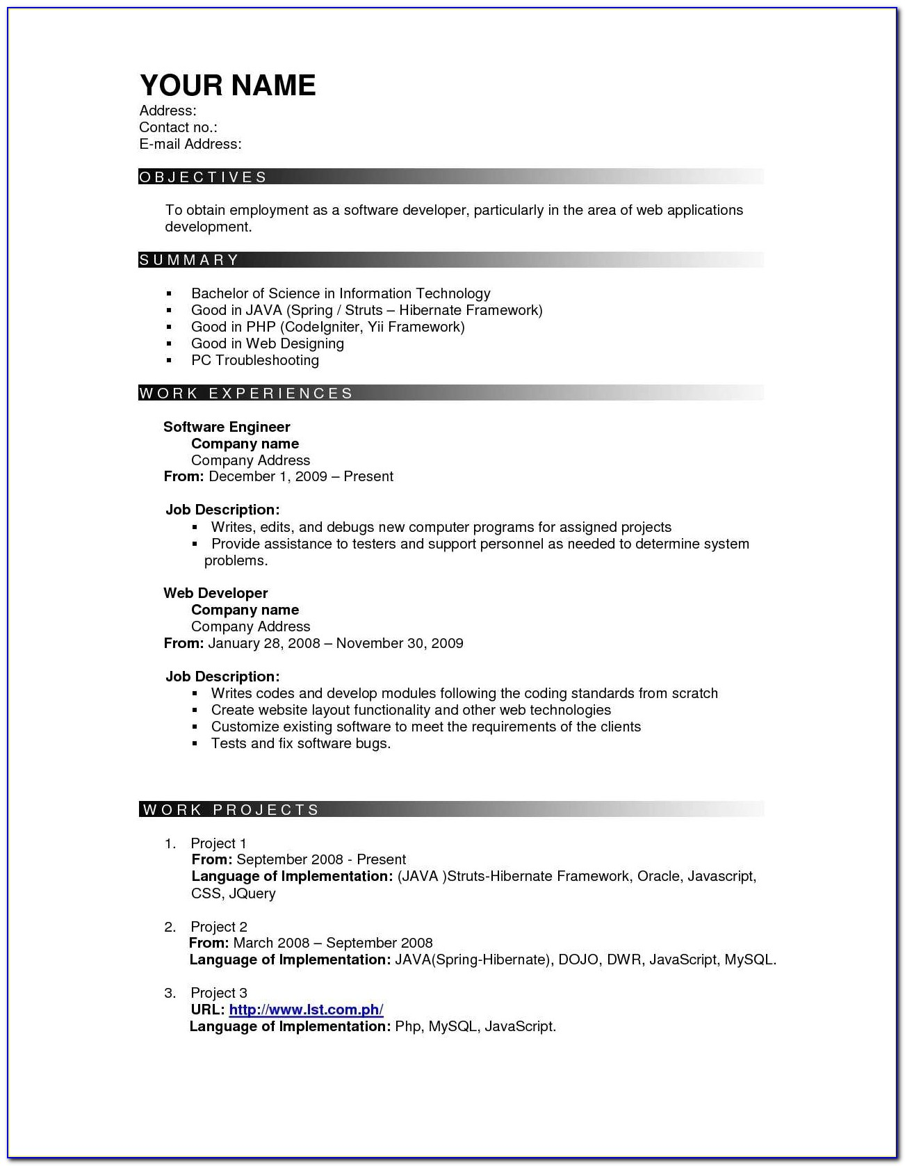 Effective Resume Templates Sample Resume Cover Letter Format Most Effective Resume Format