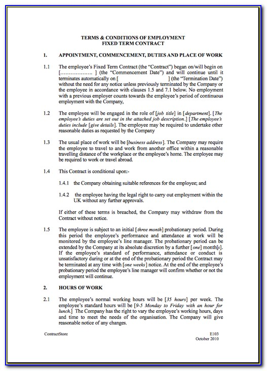 Electrical Contract Terms And Conditions Template