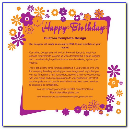 Email Birthday Card Templates