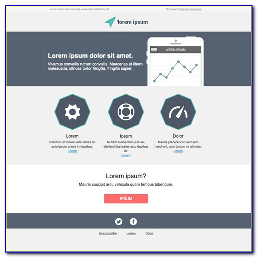 Email Newsletter Template Responsive Free