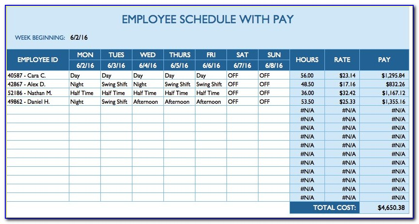 Employee Daily Work Template