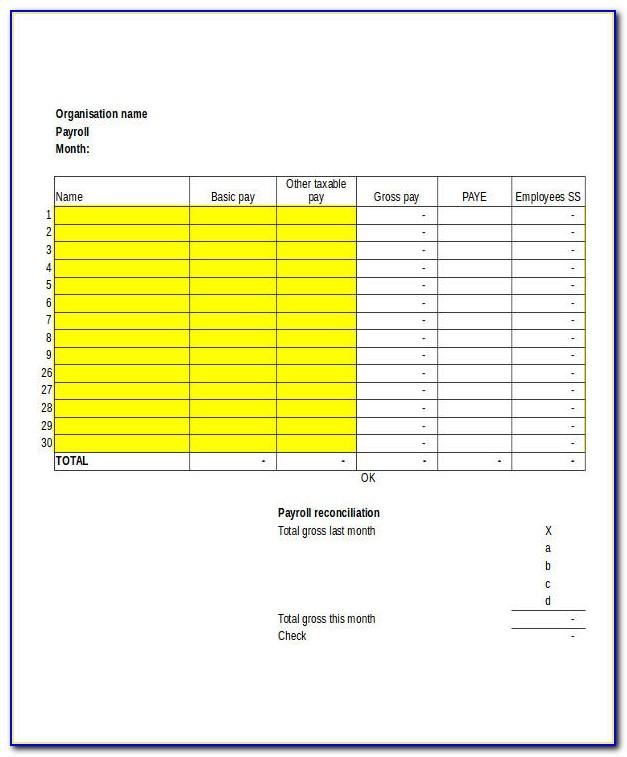 Employee Payroll Calculator Template