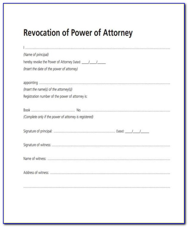 Enduring Power Of Attorney Template Victoria