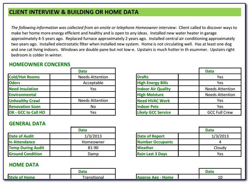 Energy Audit Report Format