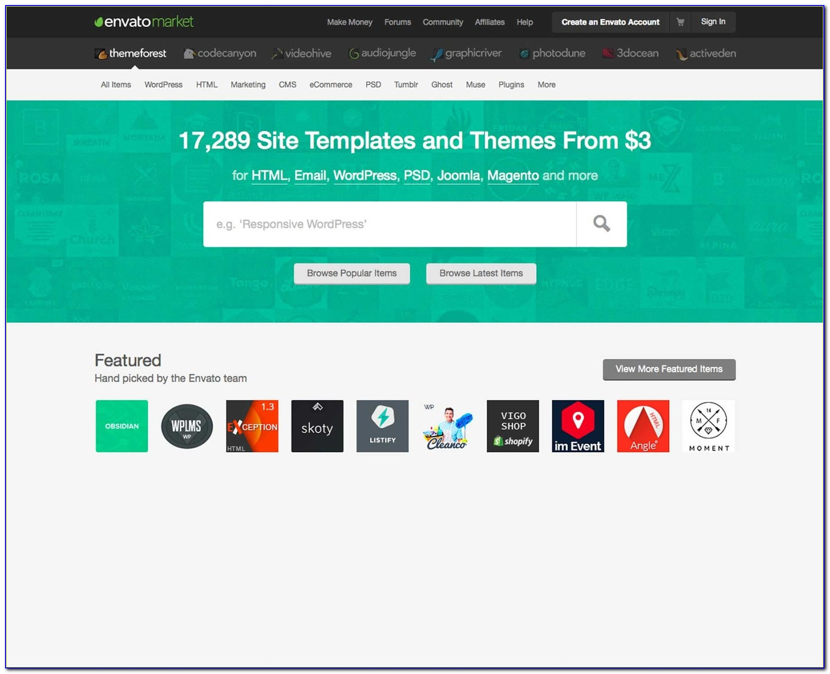 Envato Free Website Templates