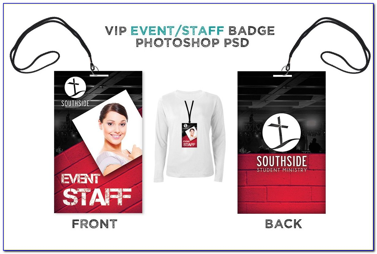 Event Staff Badge Template
