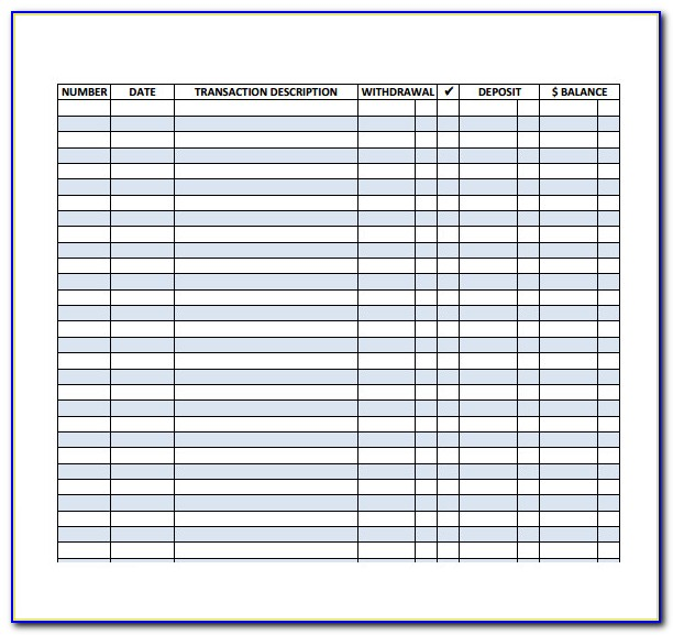 Excel Business Check Register Template